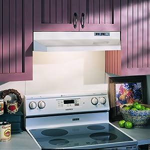 Broan 42000 Series Under Cabinet Range Hood, White