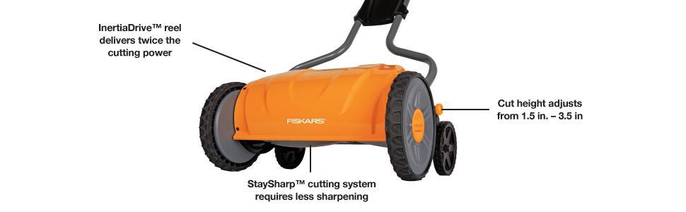 Amazon.com: Fiskars cortacéspedes con carrete ...