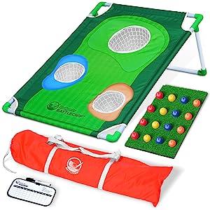 gosports golf battlechip back yard lawn cornhole golf chipping game father's day gift tailgate pga