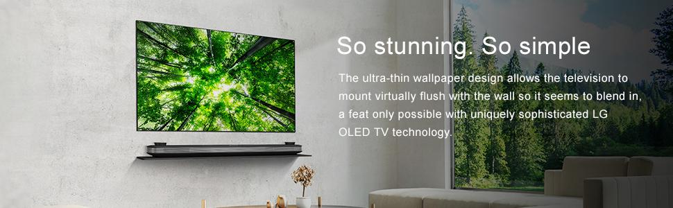 ultra thin wallpaper design oled tv