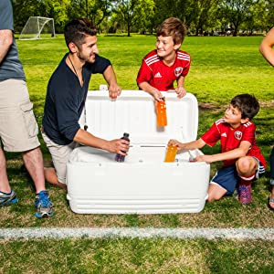 Perfect Large Quart Cooler Ice Chest for the entire Crew
