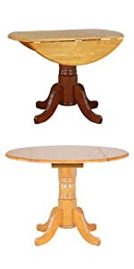 drop leaf table,round table,apartment size,small spaces,traditional,country,oak,solid wood