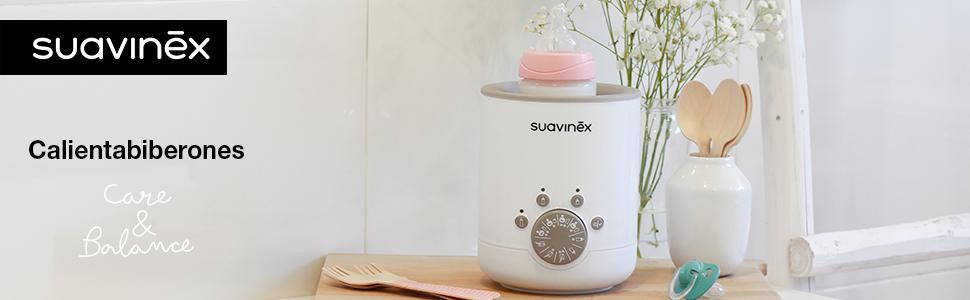 Suavinex - Calienta Biberones Link 3 en 1 (Leche Materna, Fórmula y Potitos), Calienta/ Descongela Alimentos, Sencillo de Usar y Fácil de Transportar: Amazon.es: Bebé