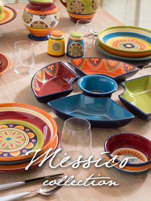Ironstone Brandani 57903 barattolo ermetico Messico multicolore,