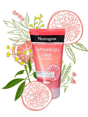 Neutrogena, roze, grapefruit, onzuiverheid gevoelig, huid, grapefruit, vlekken, verfrissend helder, verfrissend