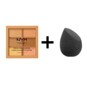 NYX Professional Makeup Paleta de correctores y contouring Conceal, Correct, Contour Palette, 6 sombras, Textura cremosa, Tono: Medium: Amazon.es: Belleza