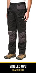 durable cordura canvas reflective knee pad workwear pant