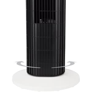 ventilatore a torretta oscillante telecomando moderno economico semplice classico bianco