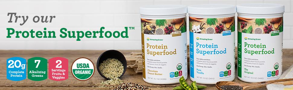 protein superfood greens protein restore