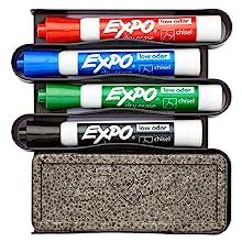Amazon.com : EXPO 1752226 Neon Dry Erase Markers, Bullet