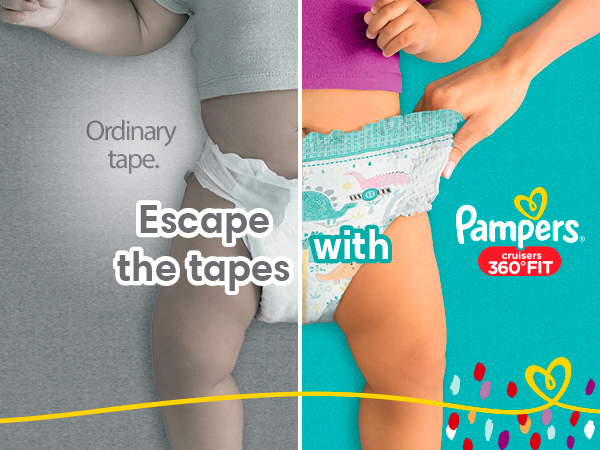 Escape the tapes with Pampers