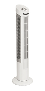 seville classics ultraslimline tall 40 inch tower fan black steel plastic remote control durable