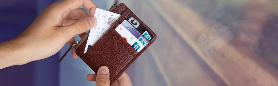 Amazon.com: Billetera delgada para tarjetas de crédito ...