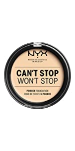 NYX Professional Makeup Can't Stop Won't Stop pressed powder foundation
