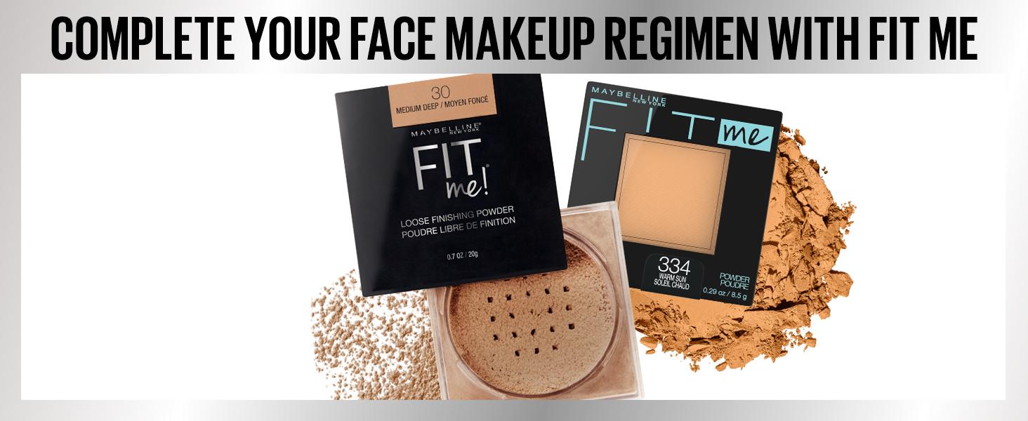 complete your face makeup regimen with fitme, face powder, powder, matte look, matte powder