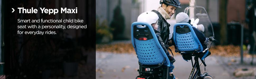 Thule Yepp Maxi EasyFit, Thule Yepp Maxi child bike seat, rear child bike seat, Thuel Yepp Maxi rear