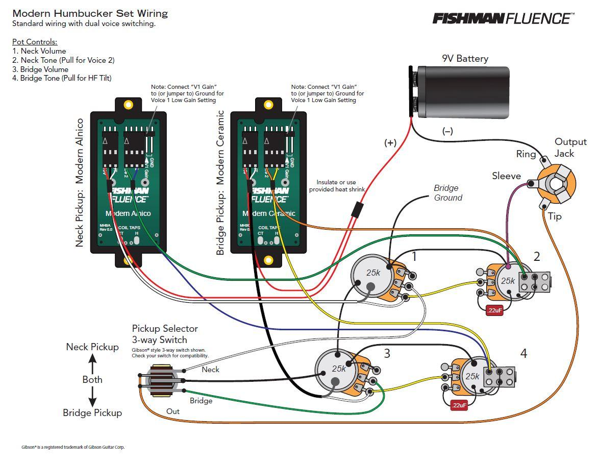 Fishman Fluence Wiring Diagram Prs Amazon Com Modern Humbucker 6 String Alnico Pickup Tele