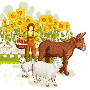 Papo 60501 Farm playmat FARMYARD FRIENDS Figurine Multicolour