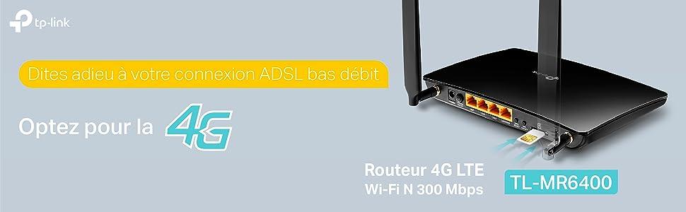 tp link routeur 4g lte wi fi n 300mbps id al pour remplacer une connexion adsl tr s faible. Black Bedroom Furniture Sets. Home Design Ideas