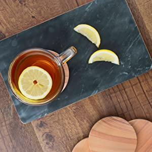 thirstystone coasters thirsty coaster sandstone absorbent absorbant marble tray black tea drip