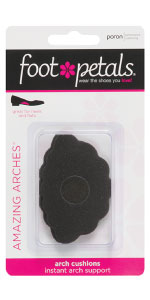 8e81fea5bf Amazon.com: Foot Petals Women's Amazing Arches-W, Black Medium/One ...