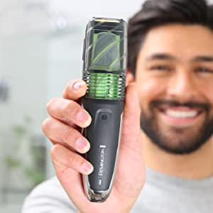 vacuum beard and stubble trimmer lithium rechargeable razor shaver