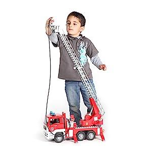 Bruder, Bruder toys, Man fire engine, fire truck