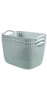 Keter knit cozie nestable storage baskets