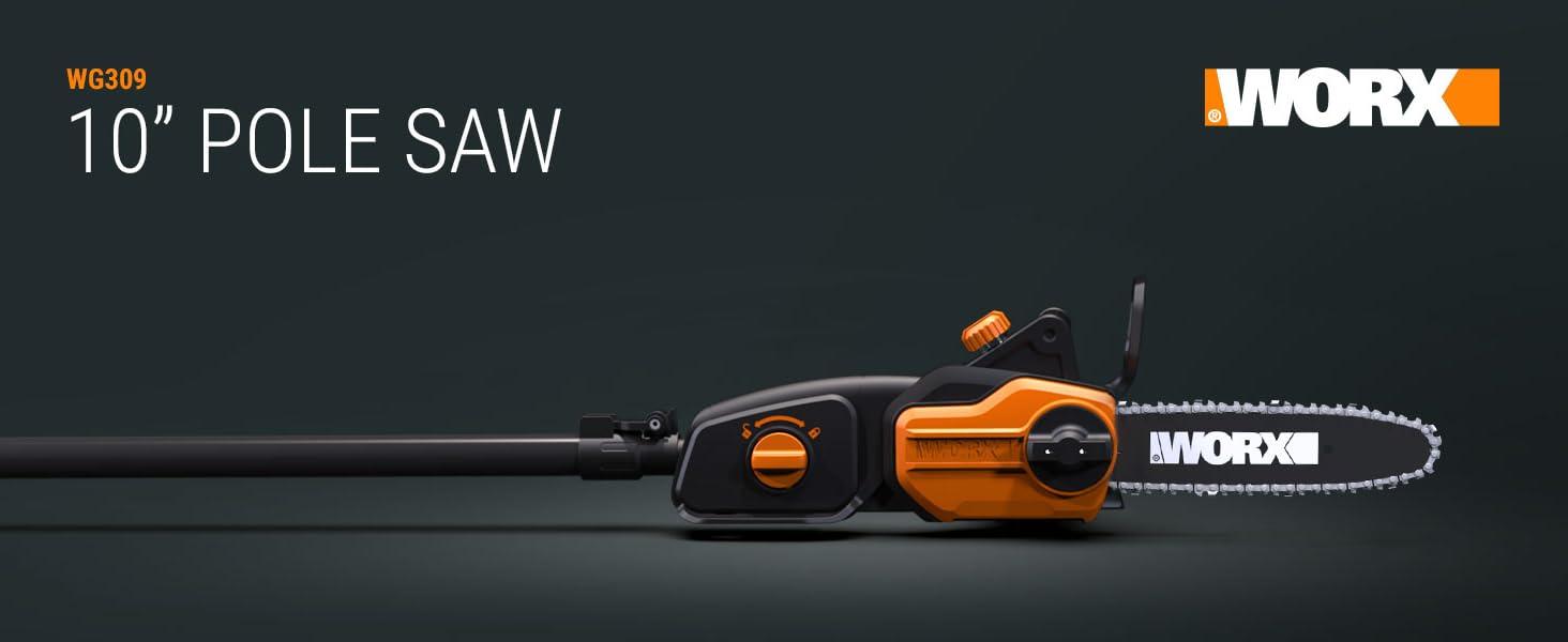 """WG309 worx pole saw; corded pole saw; 10"""" pole saw; chain saw; chainsaw; pole chainsaw"""