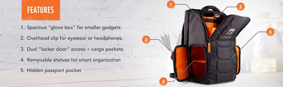 af20364fd617 Gruv Gear Club Bag Flight-Smart Tech Backpack, Classic Black