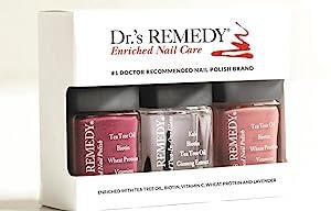 Amazon.com : Dr.\'s REMEDY Enriched Nail Polish, ANNIVERSARY 3Piece ...