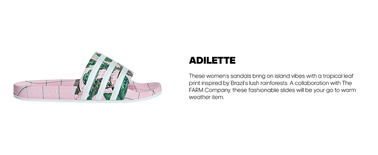 the best attitude d361f 47c6b adidas adilette women tropical