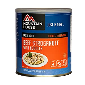 Mountain House beef stroganoff with noodles #10 can product image