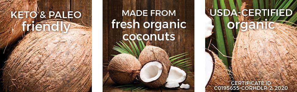 54 oz coconut oil keto paleo organic pure usda certified