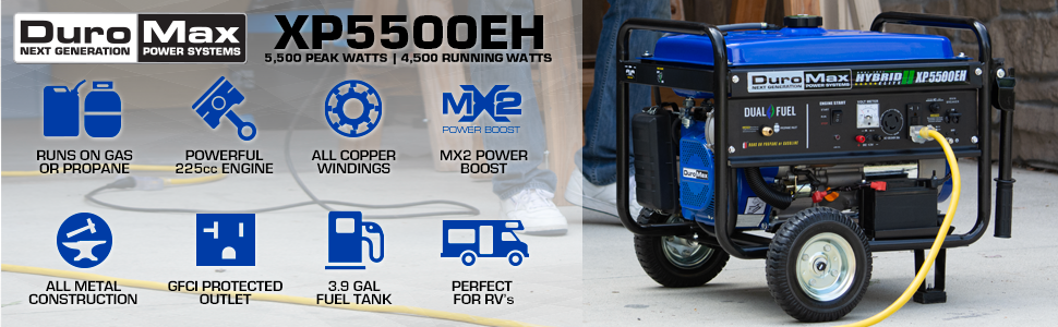 Duromax XP5500EH Dual Fuel Portable Generator