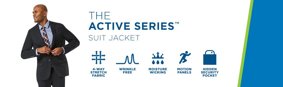 Haggar suit separate jacket, Active Series Jacket, mens suit jacket, mens suit separates, Haggar