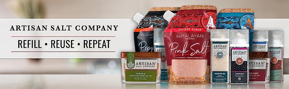 artisan salt company refill reuse repeat assortment