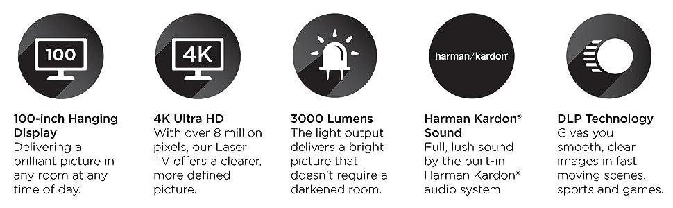 Amazon.com: Hisense - Televisor láser inteligente 4K Ultra ...