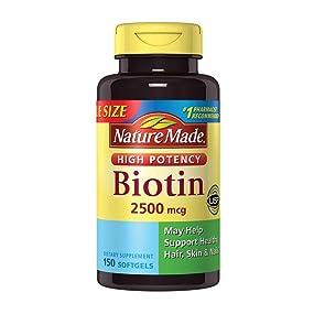 Nature Made Biotin 2500 mcg