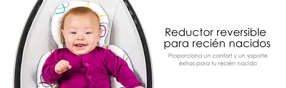 4moms Reductor para Recién Nacido, Reversible y Apto para Lavadora – Suave Tejido de Microfibra