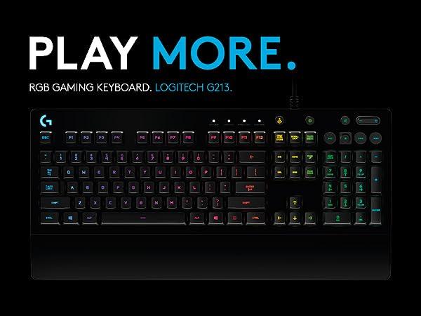 Teclado RGB G213 Prodigy para gaming