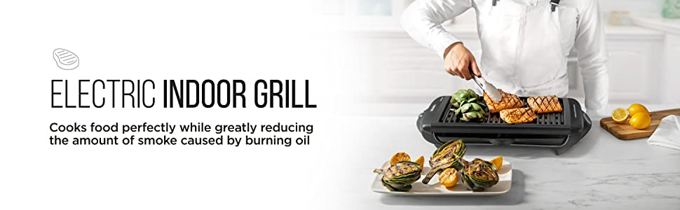 smokeless grill indoor grilled smoked electric griddle pan smoke grilling healthy low fat bbq