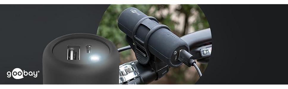 Goobay 58944 Bike Powerbank 5 0 Mit 5000 Mah Inklusiv Elektronik