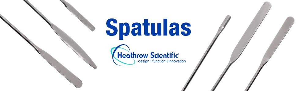 Spatula Heathrow Scientific autoclavable stainless steel nickel plated lab equipment supplies