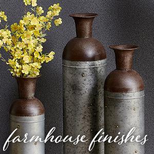 farmhouse finishes vases
