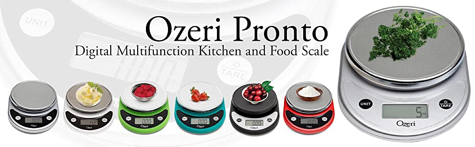 Ozeri Pronto Digital Multifunction Kitchen And Food Scale Chrome