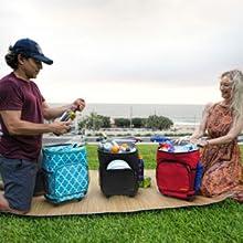 Ultra Compact Cooler Smart Cart thermal bag shopping cart wheels rolling artic igloo