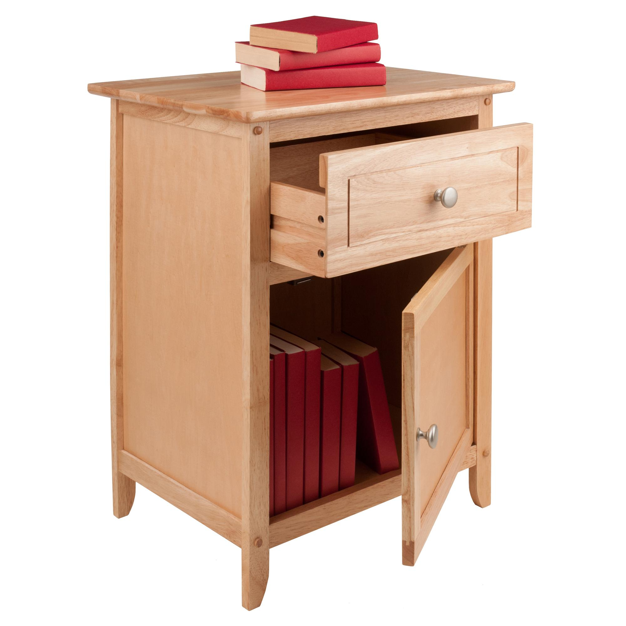 Kitchen Side Table: Amazon.com: Winsome Wood Natural Beechwood End/Accent