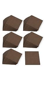 サンコー ズレない タイル カーペット ジョイント マット はっ水 30×30cm 100枚 ブラウン おくだけ吸着 KN-50(日本製)