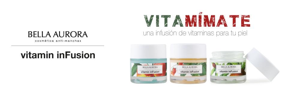 Bella Aurora Vitamin inFusion Tratamiento Multivitamínico Anti-Edad Facial Diario para Mujer Crema Facial Firmeza + Luminosidad Piel Normal O Seca, 50 ml: Amazon.es